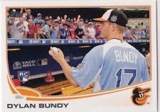 2013 Topps DYLAN BUNDY Short Print Variation SP Signing #78 Rookie Orioles