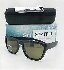 NEW Smith Clark Sunglasses Matte Black ChromaPop Polarized Grey Green $169