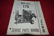 Gehl 170 Mix All Grinder Mixer Dealer's Parts Book Manual BVPA