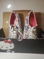 Vans Hello Kitty Hearts Sneakers True White Men 6.5 NEW WITH BOX UNWORN