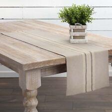 "SAWYER MILL Table Runner Farmhouse Creme/Grey Grain Sack Stripe 13""x 36"" VHC"