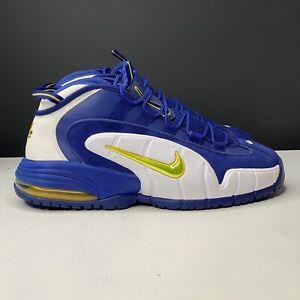 Mens Nike Air Max Penny 1 'Warriors' 685153-401 Deep Royal Blue/Gold/Wht Size 11