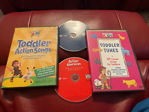 Cedarmont Kids DVD Lot Toddler Action Songs & Tunes Bible Songs Action Bible