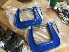 "2 x UNUSED RECORD 122-4"" G CLAMPS"