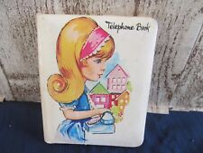 Vintage 1960's 1970's Telephone book mostly unused little girl