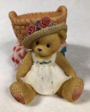 Cherished Teddies Girl With Basket Votive Candle Holder 353922 1998