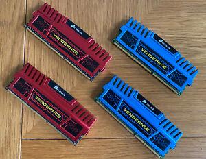 Corsair Vengeance 8GB (4x2) DDR3 1600MHz PC3-12800 Desktop RAM PC Memory CL9