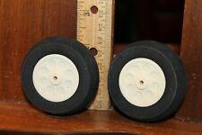 "Pair RC Model Airplane Foam Rubber Wheels Approx 2-1/4"" x 1"""