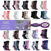3,6,12Pairs Ladies Gentle Grip Cotton Socks Non Elastic Honeycomb Top Size 4-8UK