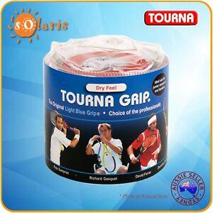 30x TOURNA Grips Travel Pouch Original Dry-Feel Tennis Racquet Standard Overgrip