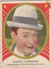"HARRY  LANGDON - HAMILTON CHEWING GUM "" hollywood PICTURE star "" 1935  gum card"