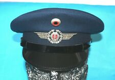 More details for east german military visor cap with air force badge and cockade (b).