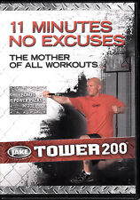 D6 Body By Jake : Tower 200 11 Minutes No Excuses Exercise Burn Fat DVD