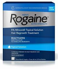 Men's Rogaine Extra Strength 5% Minoxidil Topical Solution Hair Loss 3-Month Sup