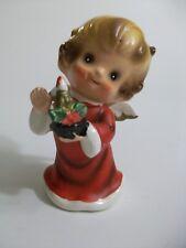 JOSEF ORIGINAL Vintage CHRISTMAS ANGEL holding candle Ceramic Figurine Japan