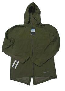 Nike AeroShield Reflective Running Jacket Olive Men's Size Medium (928477 395)