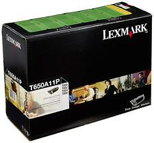 1x Lexmark Genuine T650A11P Black Toner For T650 T652 T654 - 7,000 Pages