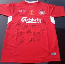 LIVERPOOL 2005 SIGNED CHAMPIONS LEAGUE WINNERS  JERSEY + PROOF