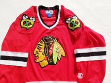 Chicago Blackhawks Jersey red Starter  Black Hawks jersey nhl mens LARGE  men L