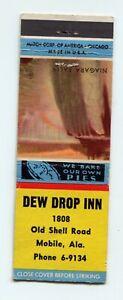 Dew Drop Inn, Niagara Falls scene, Mobile Alabama, AL Matchbook Cover