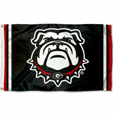 Georgia Bulldogs Black Dawg Flag Large 3x5