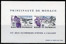 MONACO CALGARY WINTER OLYM GAMES IMPERFORATE  SOUVENIR SHEET SCOTT#1620 MINT NH