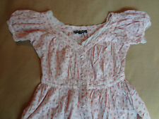 90s Vintage Betsey Johnson Pink Overdye Babydoll Dress Mid-length Size S