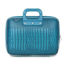 "Bombata - Turquoise Blue Medio Cocco 13"" Laptop Case/Bag with Shoulder Strap"