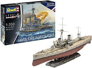HMS Dreadnought Plastic Unpained 1:350 Revell Model Kit