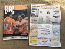 Blackpool V Barnsley COCA ~ COLA campionato 2007/08 programma, Biglietto & Team Foglio