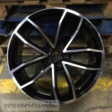 "18"" S5 CAVO STYLE BLACK WHEELS RIMS FITS VW VOLKSWAGEN CC PASSAT JETTA SEL"