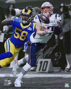 Rob Gronkowski New England Patriots Signed 8x10 Photo Super Bowl LIII REPRINT