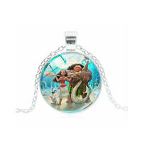 Moana Disney Necklace Princess Maui Heart of Te Fiti Cartoon kids girls Toys