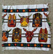 VTG Perfecta S.A. Dońa Maria Indigenous Fabric Wall Table Folk Art Fringed Cloth