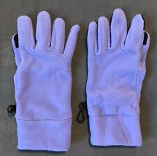 Lands' End Kids Girls Purple Fleece Gloves Youth Size Medium