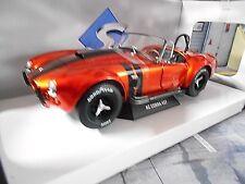 AC Shelby Cobra Ford v8 427 MKII Orange Noir 1965 SOLIDO métal neuf 1:18