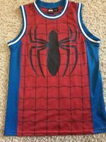 "SPIDER-MAN Marvel ""SPIDEY""Tank Top Jersey SMALL Authentic 2012 Spiderman SWEET"