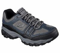 Skechers Navy Wide Width Shoes Men Memory Foam Sport Train Comfort Casual 50124