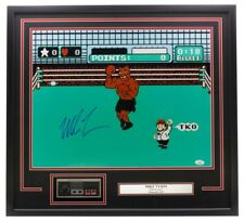 Mike Tyson Signed Framed Boxing 16x20 Punch Out Photo w/ Nintendo Controller JSA