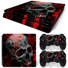 Sony PS4 Playstation 4 Slim Skin Aufkleber Schutzfolie Set - Vampire Skull Motiv