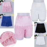 Womens Bloomer Shorts Soft Lace Pumpkin Safety Pants Lolita Cosplay Underpants