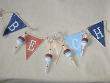 Beach Flags and Buoys Garland Bunting  Seaside FREE POST  flags nautical gifts
