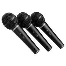BEHRINGER ULTRAVOICE XM1800S set 3 microfoni dinamici per voce strumenti karaoke