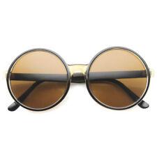 Gafas de sol de mujer degradadas negro redondo
