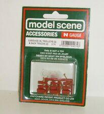 Modelscene N 5174 - Luggage (9), Trolleys (2) and Sack Trucks (2) - (N)