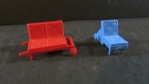 Vintage Doll House Furniture - Plastic - Marx or possible Marx - Patio Furniture