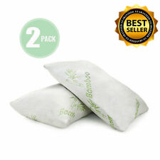 2 Pcs Bamboo Shredded Memory Foam Pillow Queen King Size Washable Cover Original