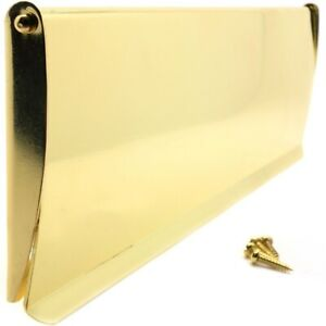 POLISHED BRASS INTERNAL LETTER BOX FLAP DRAUGHT EXCLUDER Inner Post Cover Plate