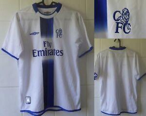 2003-2004 Chelsea FC Short Sleeve Umbro Away Football Shirt Youth
