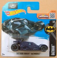 Hot wheels (2015) BATMAN THE DARK KNIGHT BATMOBILE #228 - 1/64 SHORT CARD 'Blue'